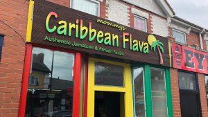 Caribbean Flava shop sign