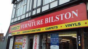 Direct Furniture Bilston shop sign