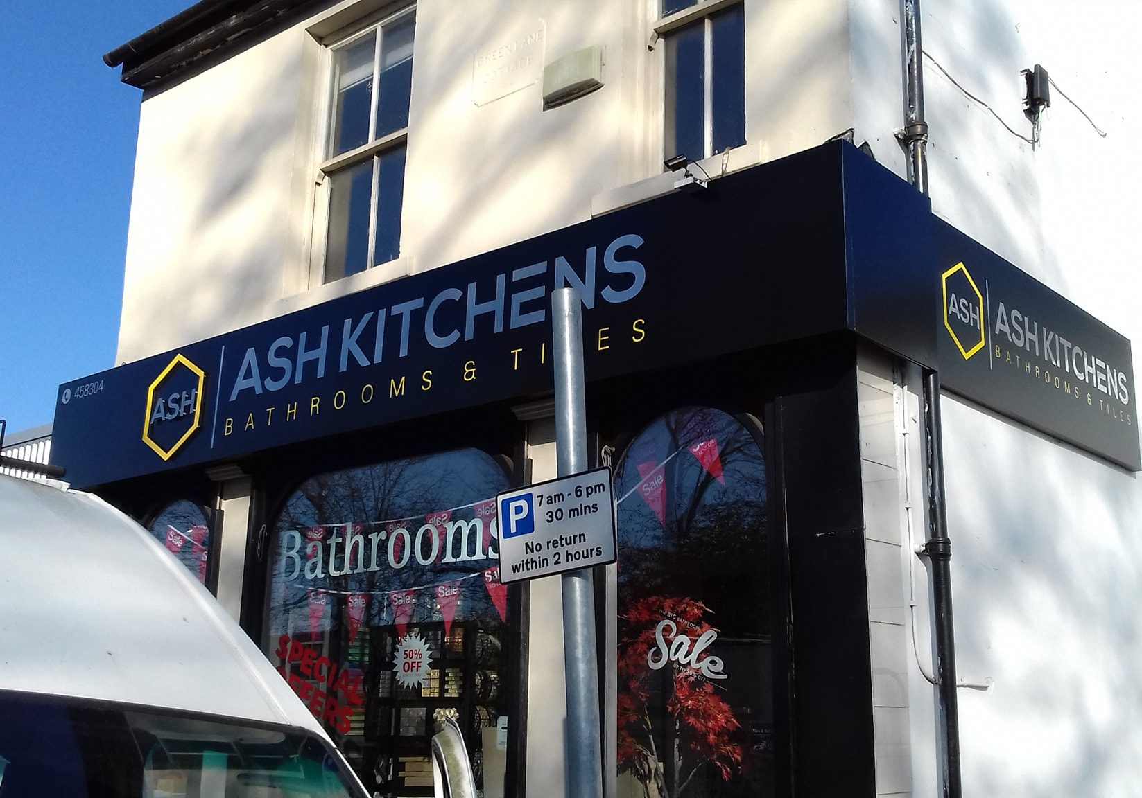Ash Kitchens store sign