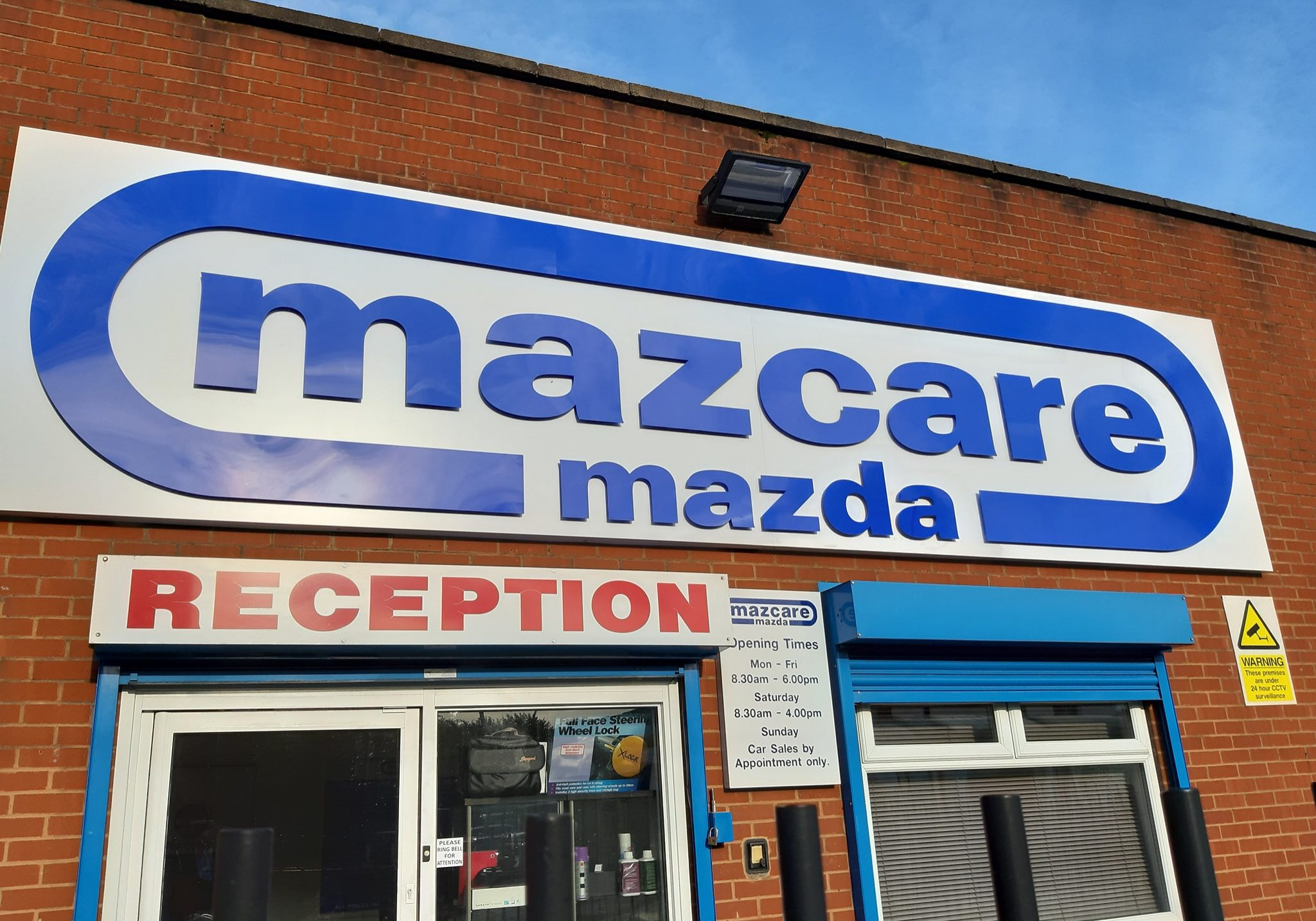 Mascare Mazda shop sign